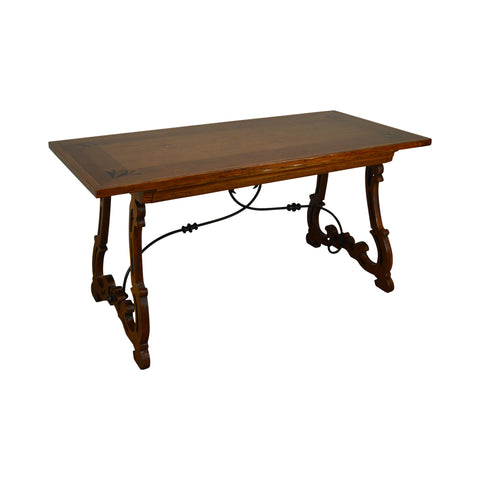 Baker Spanish Revival Style Inlaid Walnut Writing Desk