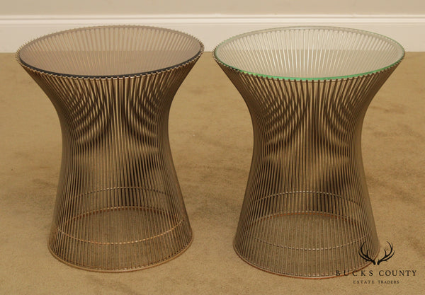 Warren Platner for Knoll Mid Century Modern Pair Side Tables