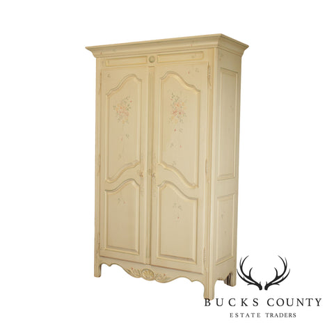 Ethan Allen Country French Hand Painted 2 Door Armoire