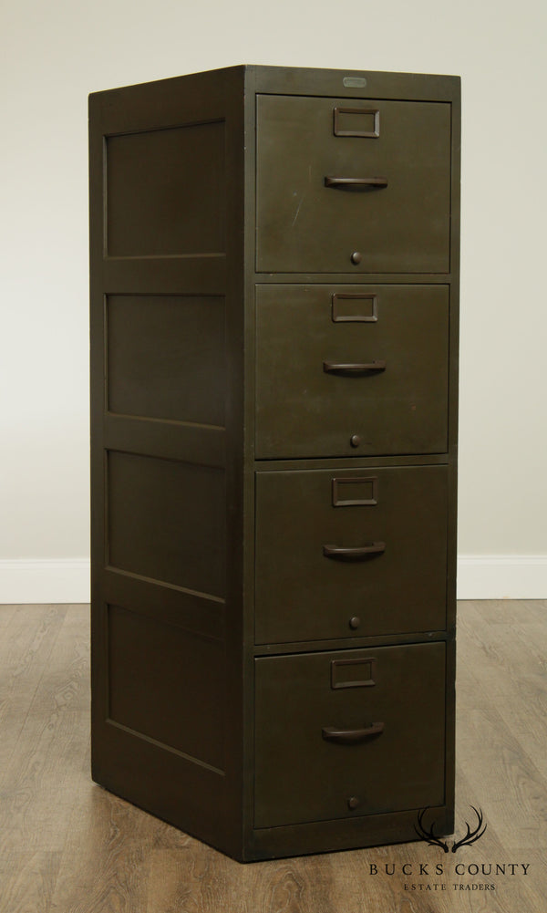 U. S. P. O. Dep't World War II Green Wood File Cabinet, Lycoming