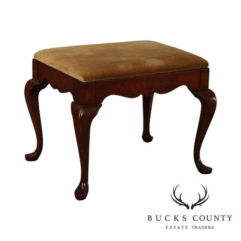 Pennsylvania House Solid Cherry Vintage Queen Anne Vanity Stool