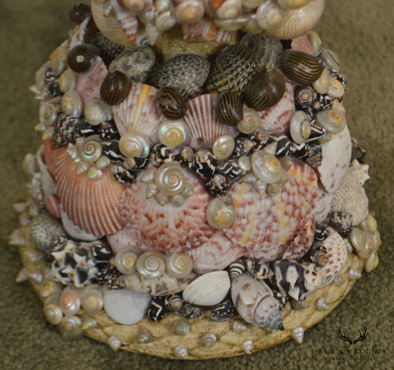 Seashell Embellished Bust of Girl Signed Susan Sugar