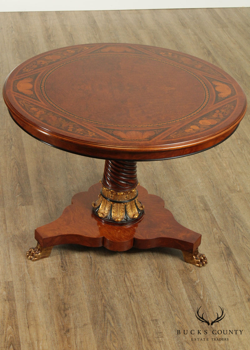 Rho Mobili D'Epoca Neoclassical Round Inlaid Center Table