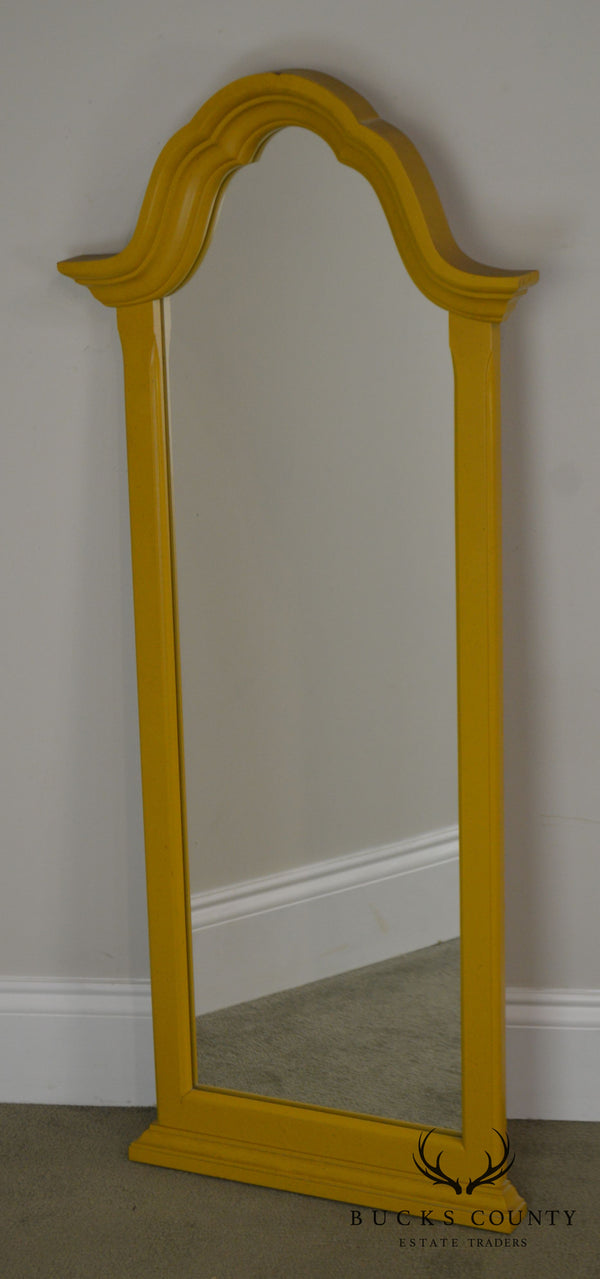 Vintage Yellow Painted Narrow Wall Mirror