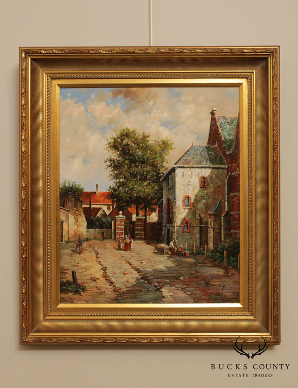 F. Tailroy Dutch Impressionist Style Framed Oil Painting