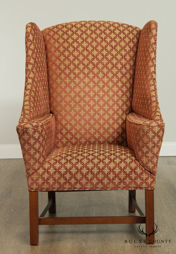 Large Custom Upholstered Wing Chair