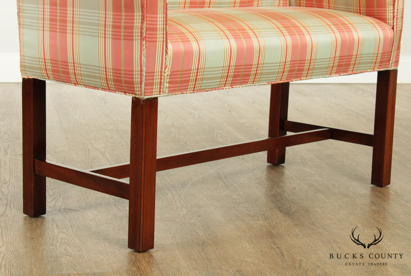 Chippendale Style Custom Quality Mahogany Bench