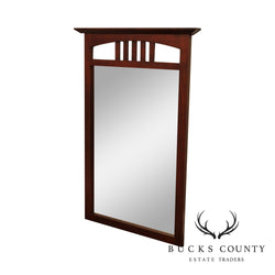 Solid Cherry Frame Beveled Wall Mirror