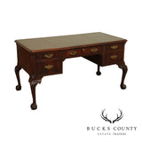 Hekman Chippendale Style Mahogany Ball and Claw Leather Top Desk