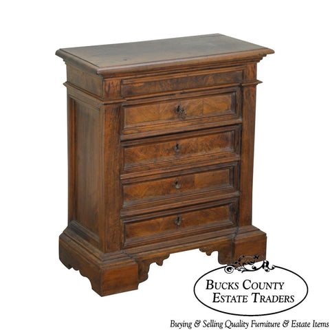 18th Century Italian Walnut 3 Drawer Commode Chest
