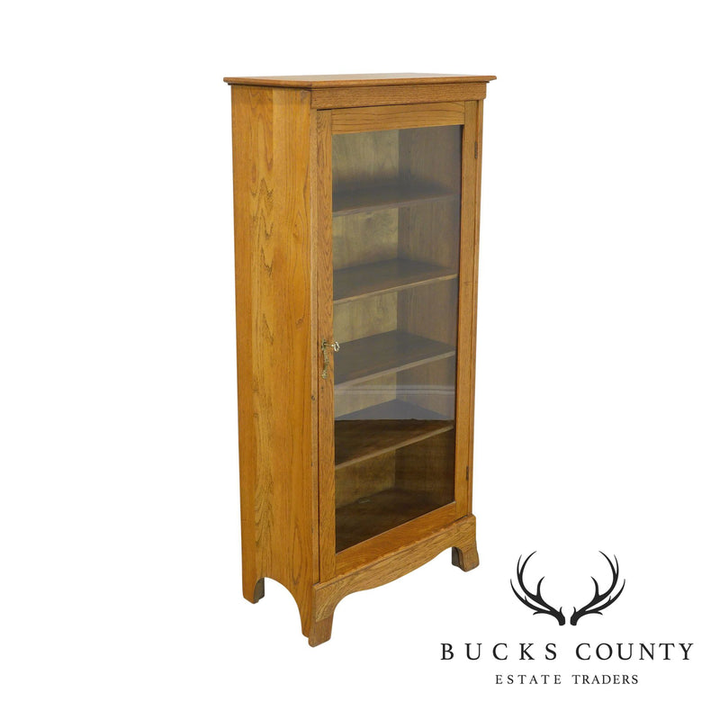 Antique Oak One Door Bookcase