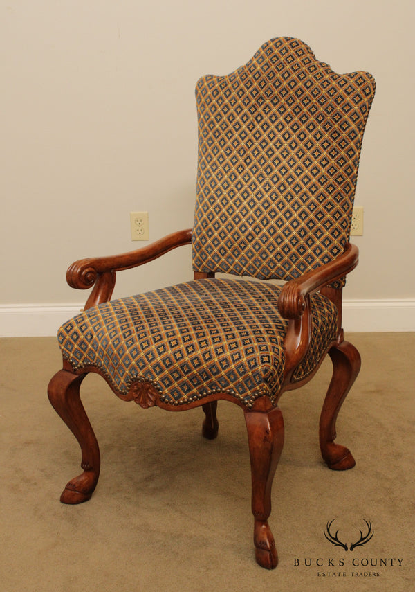 Quality Italian Hoof Foot Upholstered Armchair