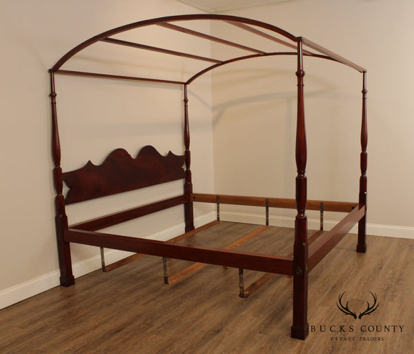 Irion Company Custom Mahogany King Size Poster Bed with Canopy