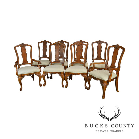 French Country Style Set 8 Dining Chairs