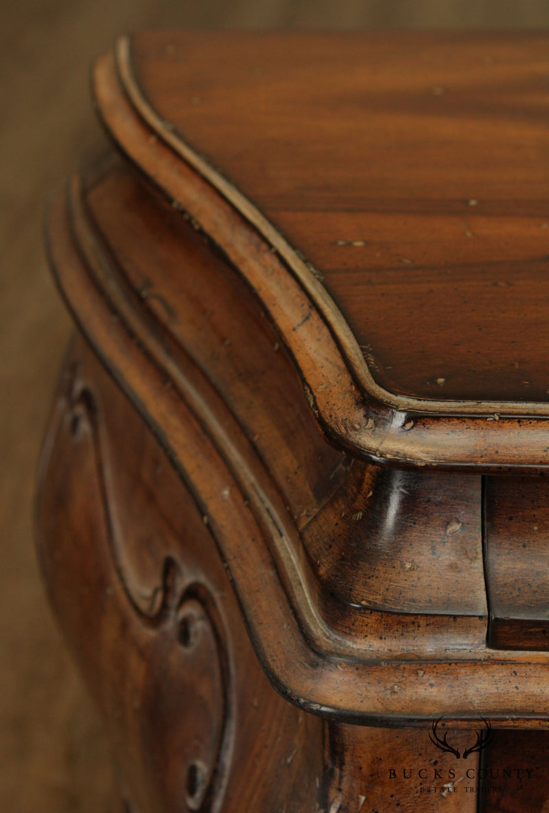 Italian Rococo Style Bombe Commode Chest or Nightstand