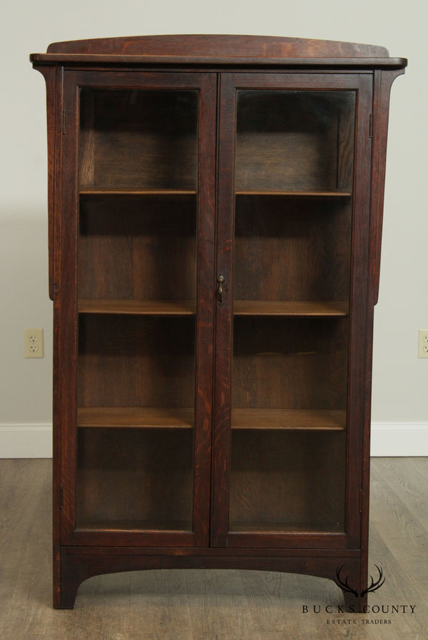 Rockford Antique Mission Oak, Arts & Crafts China Cabinet, Bookcase
