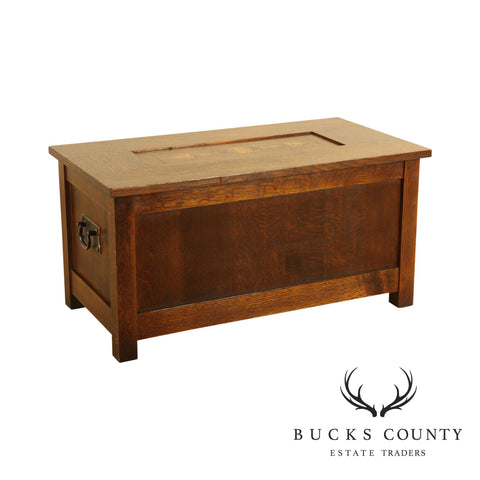 Stickley Mission Collection Inlaid Oak Gustav Collector's Chest