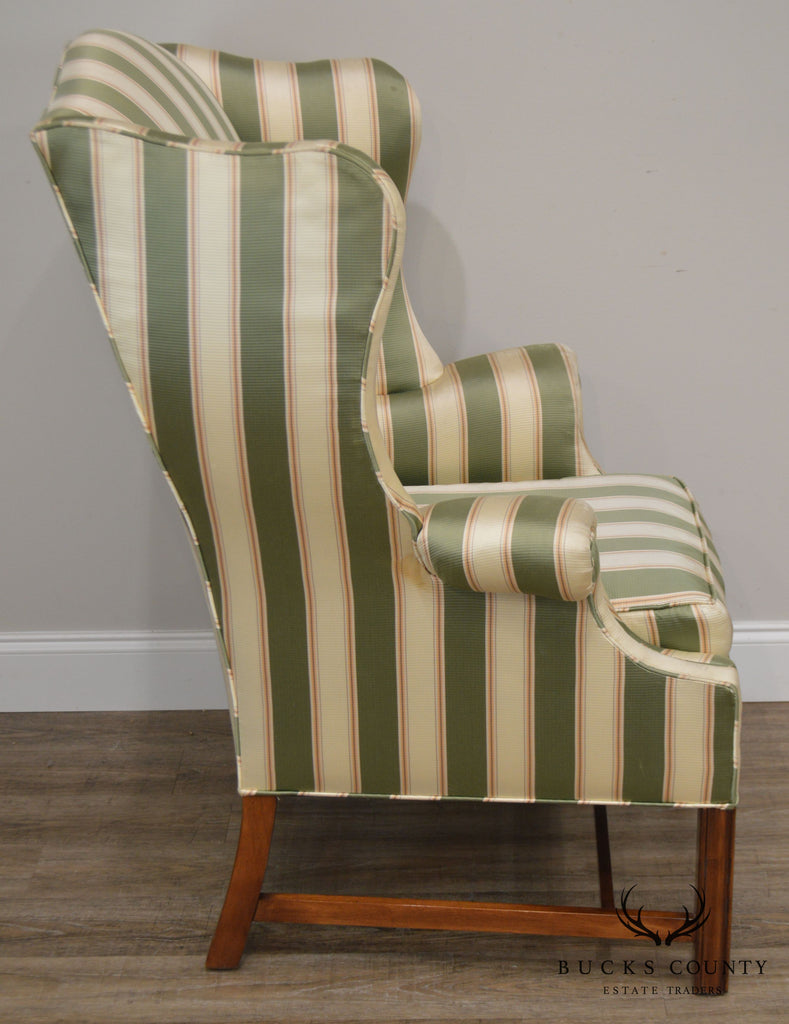Superb Baker Vintage Chippendale Style Wing Chair Bucks County Theyellowbook Wood Chair Design Ideas Theyellowbookinfo