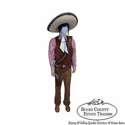 Poncho Life Size Large Display Dressed Mannequin w/ Replica Pistol