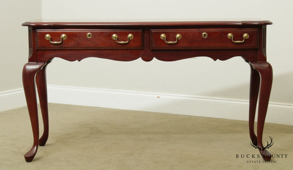 Pennsylvania House Queen Anne Style Cherry 2 Drawer Console Table