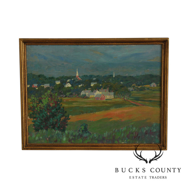 Edward Walker Framed Oil Painting Landscape Brandon Vermont