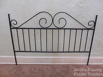 Heavy Wrought Iron Black King Size Bed Headboard