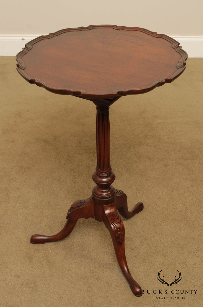 Custom Quality Cherry Queen Anne Pie Crust Tilt Top Pedestal Table