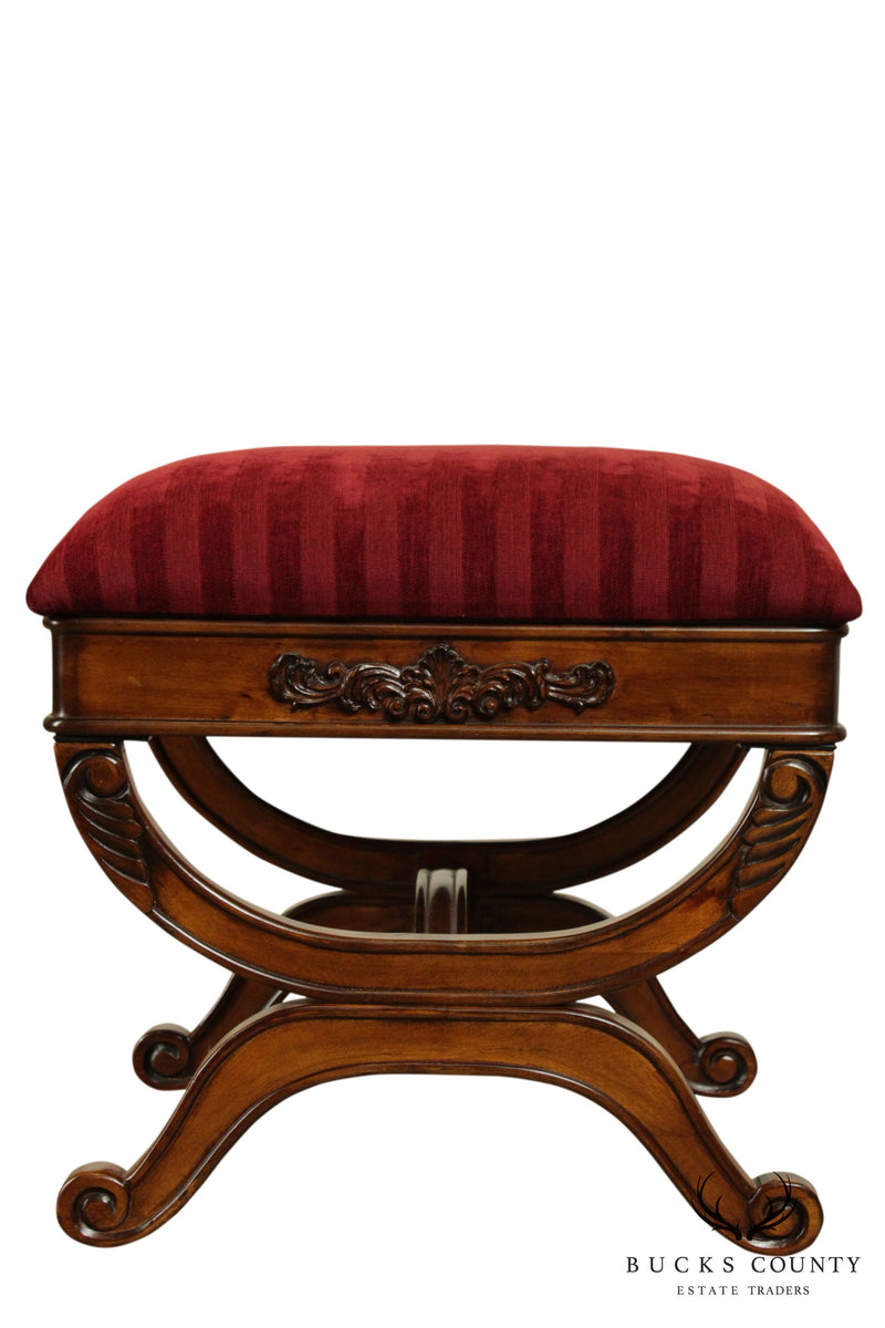 Regency Style X Base Bench or Stool (A)