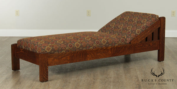 Eldredge & Miller Antique Mission Oak Day Bed Chaise Lounge