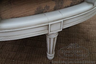 Quality French Louis XVI Style Painted Chaise Lounge