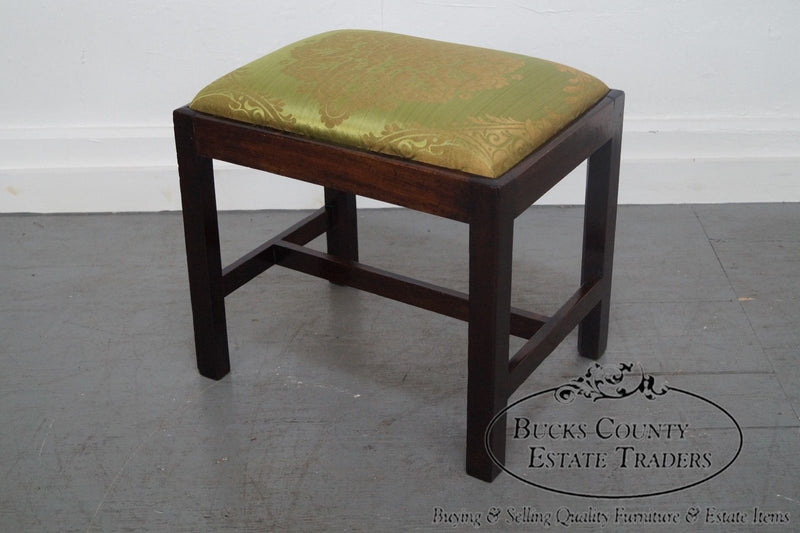 Antique Mahogany Chippendale Ottoman Foot Stool