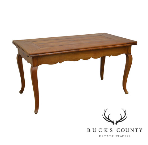 French Country Antique 19th Century Cherry Farmhouse Refectory Dining Table