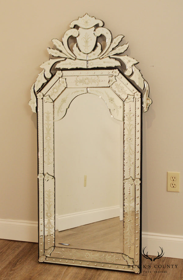 "Quality 56"" Tall Venetian Etched Mirror"