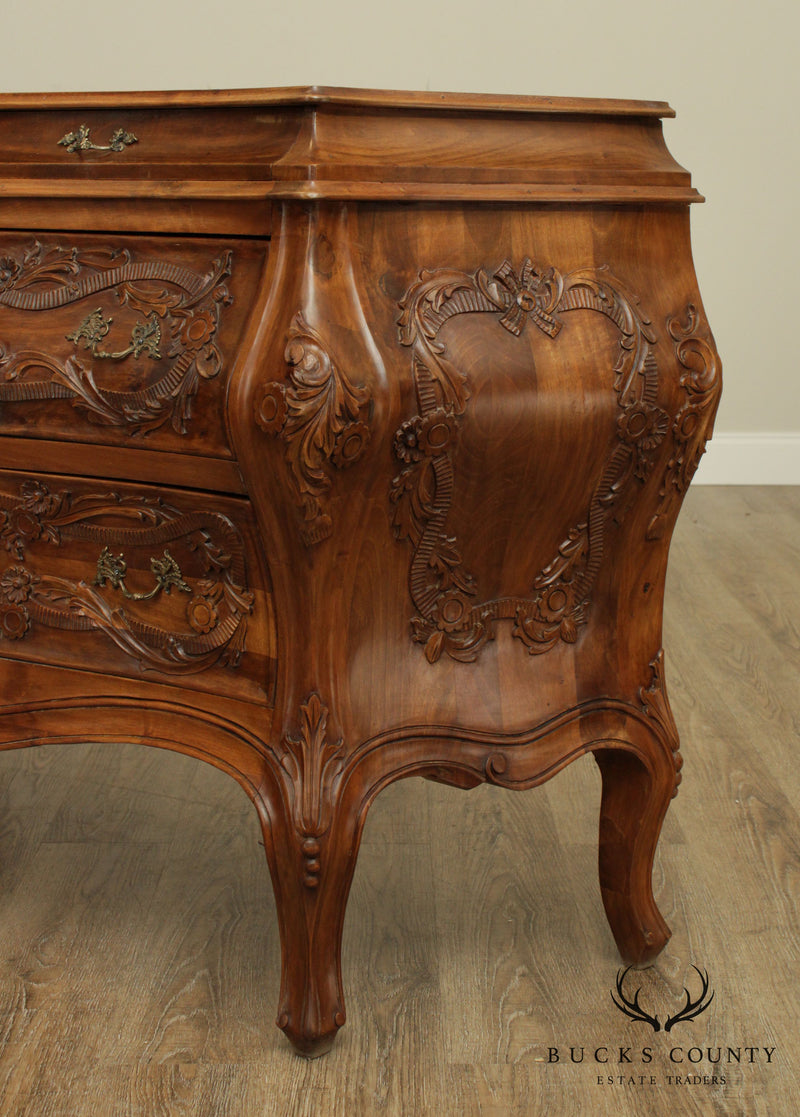 Italian Rococo Style Bombe Commode Chest