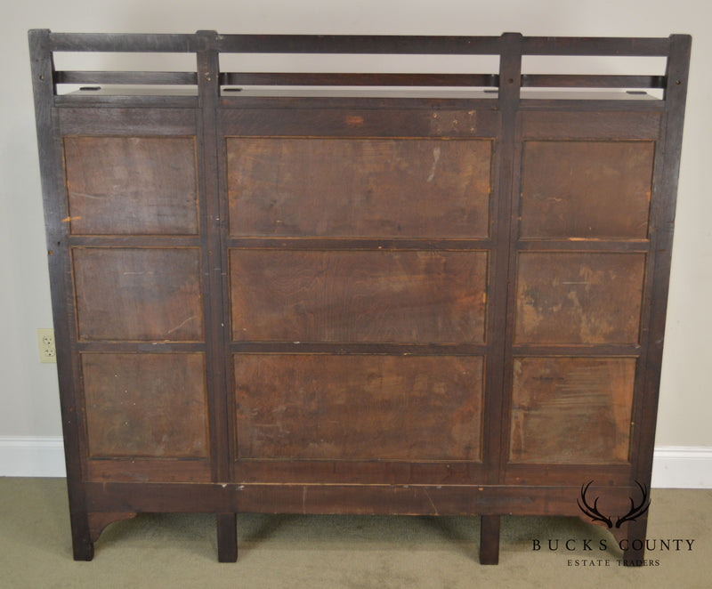 Charles Stickley Antique Mission Oak 3 Door Bookcase China Cabinet