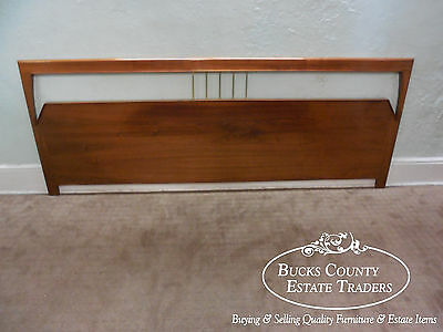 Vintage Danish Modern Style Extra Wide Walnut King Size Headboard