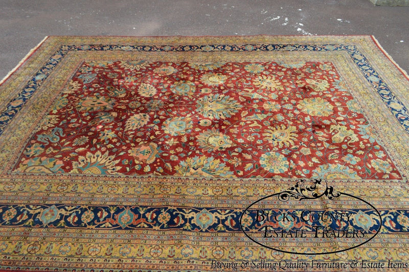 Fine Quality Hand Knotted 9x12 Sarouk Room Size Rug