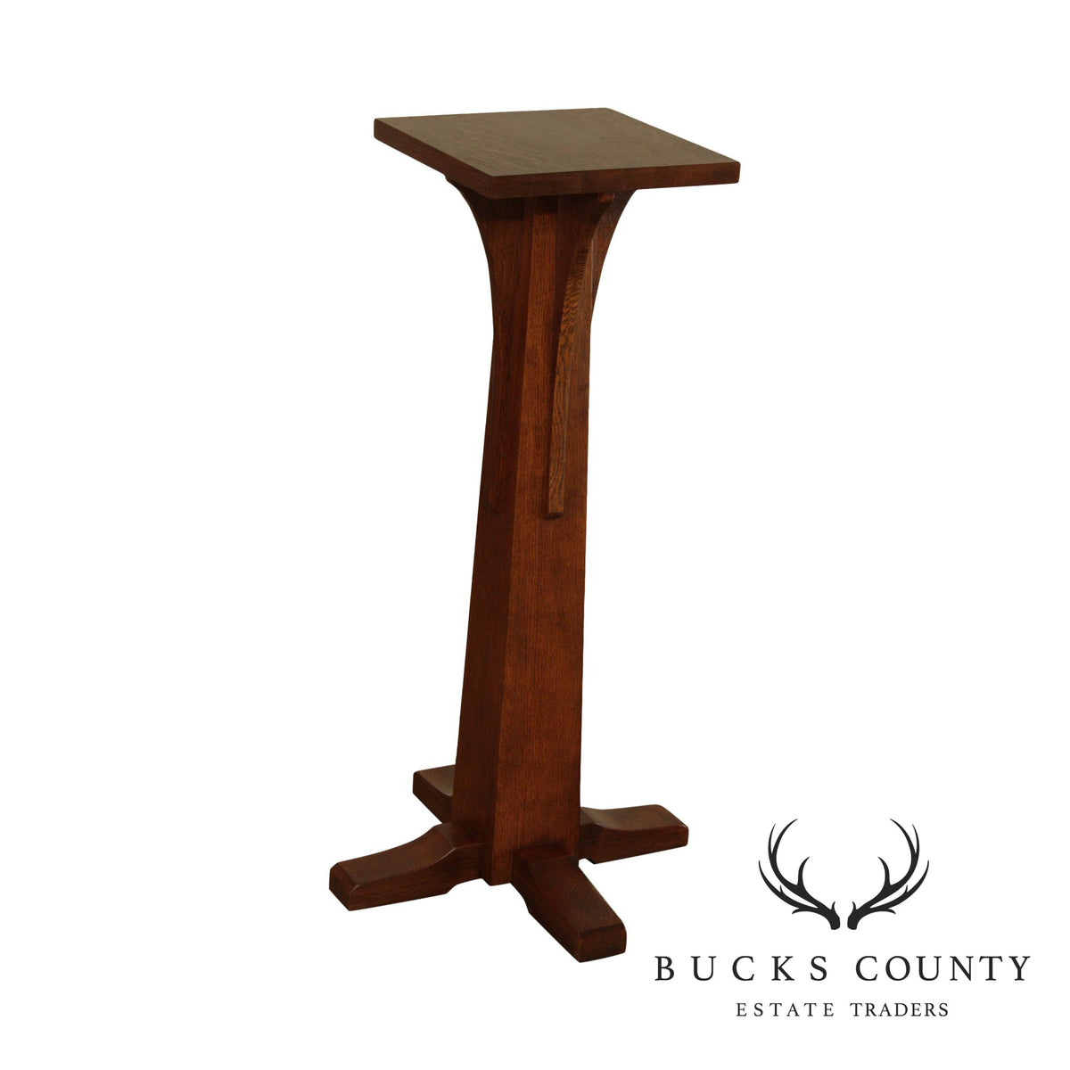 Stickley Mission Collection Oak Pedestal Plant Stand
