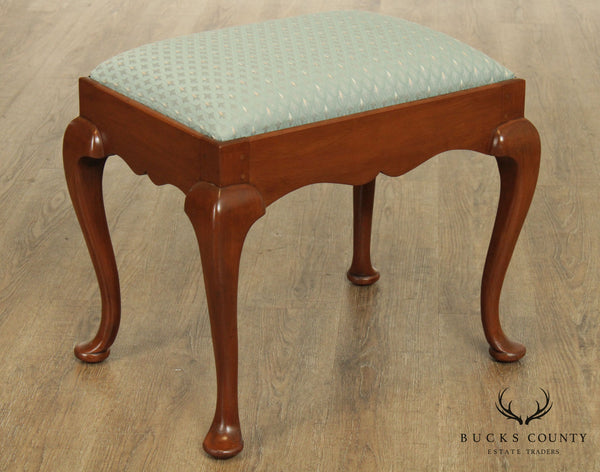 Suters Reproductions Hand Crafted Cherry Queen Anne Stool