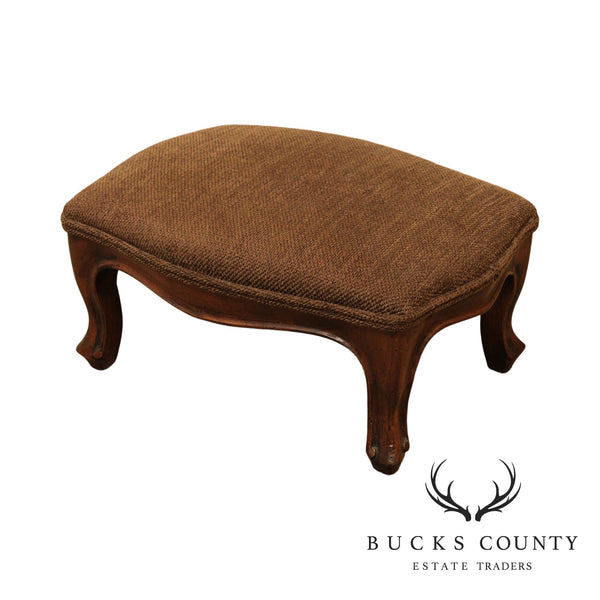 French Louis XV Style Small Walnut Footstool