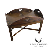 A. Cooper Bucks County Custom Chippendale Style Mahogany Butlers Coffee Table