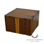 Studio Crafted Walnut Free Form Cube Coffee Table after Phillip Powell