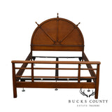 1940's Vintage Nautical Ships Wheel Full Size Maple Bed