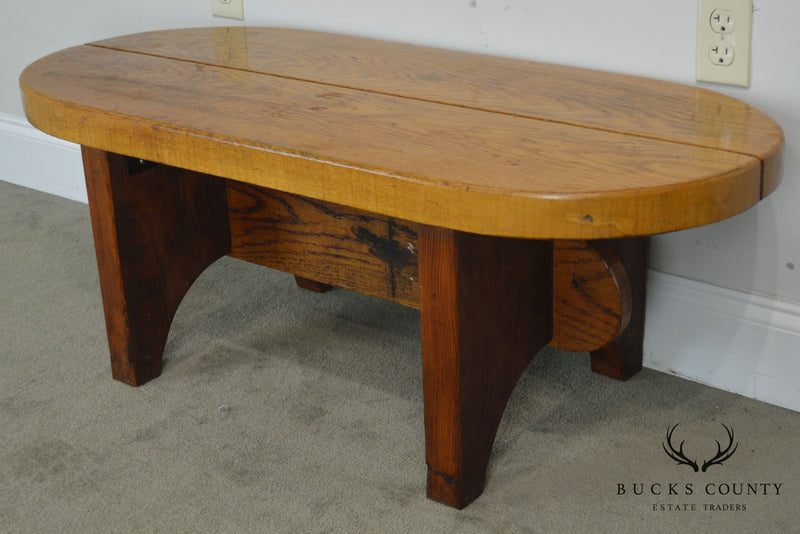 Studio Crafted Solid Oak Oval Coffee Table