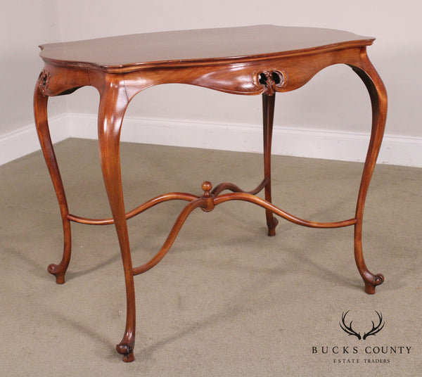 Art Nouveau Antique Mahogany Parlor Table