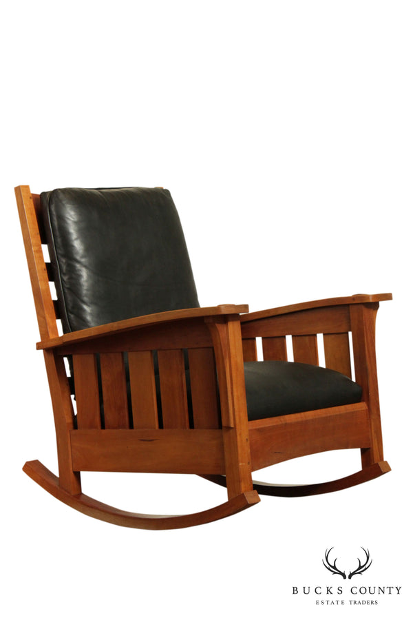 Stickley Mission Collection Solid Cherry Rocker (B)
