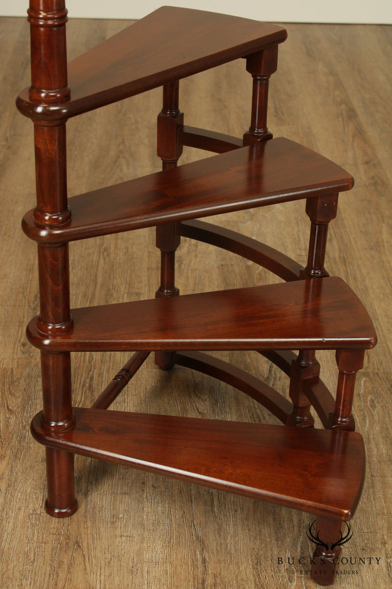 Italian Cherry Stained Library Steps