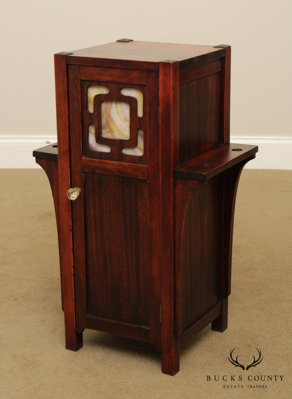 Antique Mahogany Arts & Crafts Period Smoke Stand Side Table