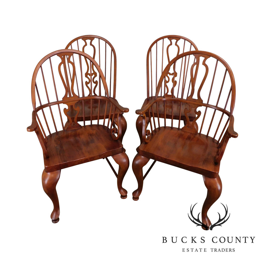 Astounding Bob Timberlake Lexington Furniture Set 4 Cherry Windsor Andrewgaddart Wooden Chair Designs For Living Room Andrewgaddartcom