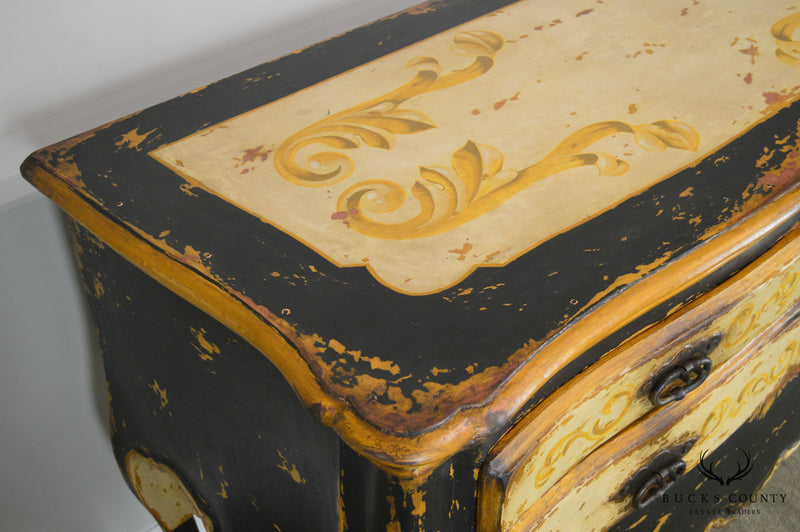 Continental Painted Custom Quality 3 Drawer Commode Chest